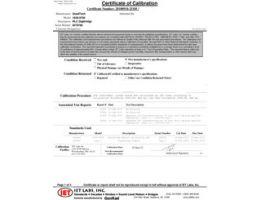 Certificado de Calibração Rastreável NIST (Incluído)